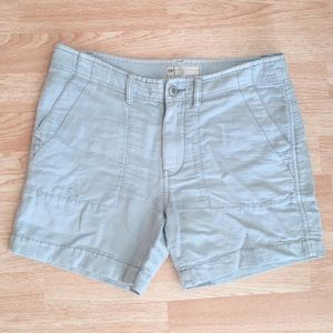 Free People Blue Linen /Cotton Shorts